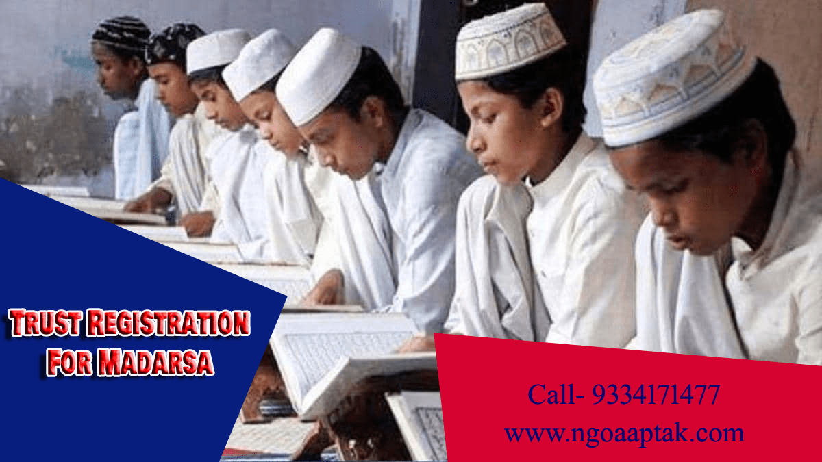 trust registration for madrasa in Bhagalpur
